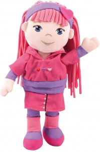 Bayer Kuschelpuppe Rag Doll Soft Friends rosa 30cm