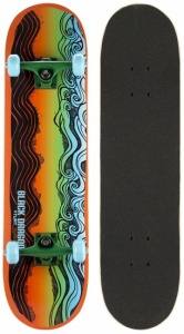 Black Dragon Skateboard Black Dragon 78 x 20 cm oranje/groen