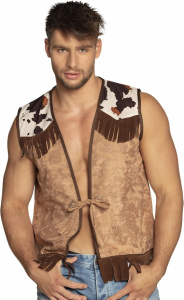 Boland waistcoat Cowboy men's polyester brown size L/XL