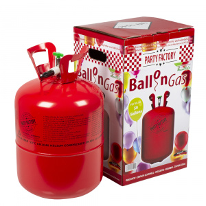 Boland helium tank staal rood 50 latex ballonnen