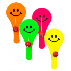 Boland paddle ball Smiley 11 cm junior 4 pieces