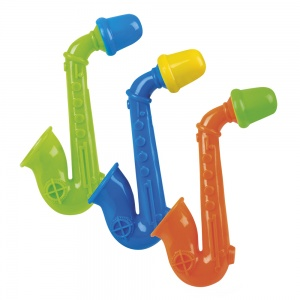 Boland Mini-Saxophon 3er-Set grün/blau/orange 11 cm