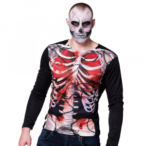 Boland shirt Creepy Carcass men's polyester black/white size M/L