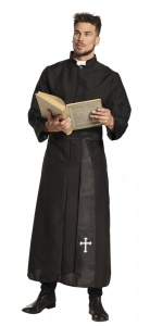 Boland costume dressed Holy Priest men black