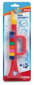 Bontempi Toy Trumpet Red Band