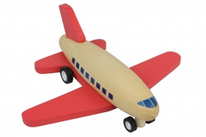 BS Toys race plane 15 cm red