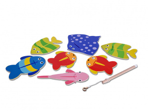 BS Toys Fish game multicolor 15 x 30 x 15 cm 11 pieces