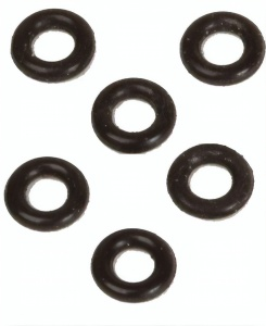 Bull´s O-rings 6 mm black 6 pieces