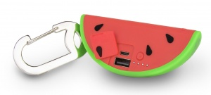 Buqu powerbank Watermelon 2500 mAh rood