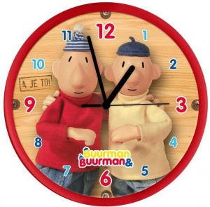 Buurman en Buurman Horloge Buurman en Buurman 25 cm rouge