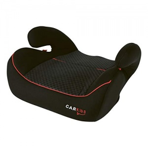 Carkids booster seat group 3 Isofix black with red piping