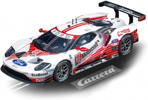 Carrera voiture de piste Evolution Ford GT No.66 1:32 blanc/rouge