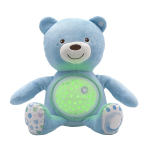 Chicco knuffelprojector Baby Bear First Dreams 27 cm blauw