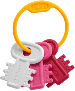 Chicco key rattle junior 12 x 17 cm yellow 4-piece