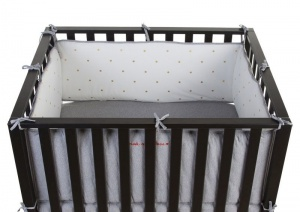Childhome babyboxwand Park 94 wit/grijs/goud