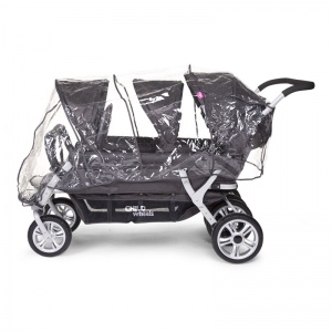 Childwheels regenhoes Sixseater transparant