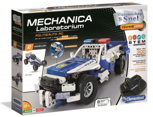 Clementoni construction kit Mechanica Police car RC 2-in-1