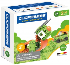 Clicformers Craft Green-set 2-in-1 (807003) 25-piece