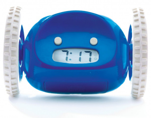 Clocky alarm clock Robot on wheels junior 13,5 x 9 cm blue/wi