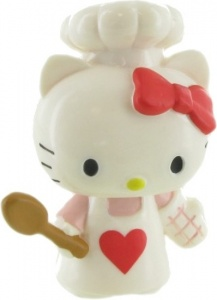 Comansi speelfiguur Hello Kitty: Chef 6 cm wit