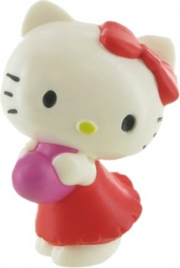 Comansi speelfiguur Hello Kitty: Heart 6 cm wit