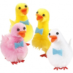 Creotime ducks 4 pieces 5 cm multicolor
