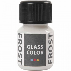 Creotime glas- & porseleinverf Glass Color 30 ml frost wit