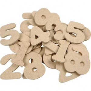 Creotime wooden figures 4 cm 30 pieces