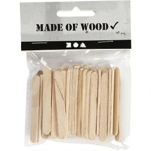 Creotime wooden icesticks 5,5 cm 50 pieces