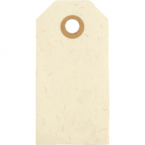 Creotime labels beige 4 x 8 cm cardboard 20 pieces