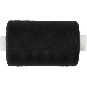 Creotime sewing thread polyester black 1000 meters
