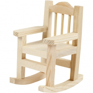 Creotime rocking chair wood 8.8 x 5.5 cm each