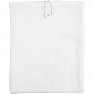 Creotime tablet cover 22 x 27 cm cotton white