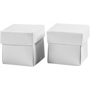 Creotime folding cardboard boxes 5.5 x 5.5 x 5.5 cm 10 pieces white