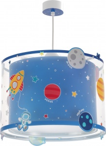 Dalber hanglamp Planets glow in the dark 33 cm blauw