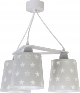 Dalber hanglampen Stars glow in the dark 20,5 cm grijs