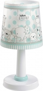 Dalber tafellamp Friends 30 cm wit/turquoise