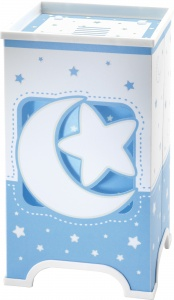 Dalber tafellamp led Moonlight glow in the dark 21,5 cm blauw