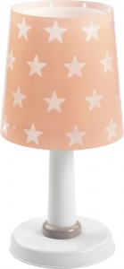Dalber tafellamp Stars glow in the dark 30 cm roze