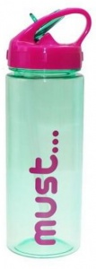 Diakakis drinkfles Must unisex 500 ml groen/roze