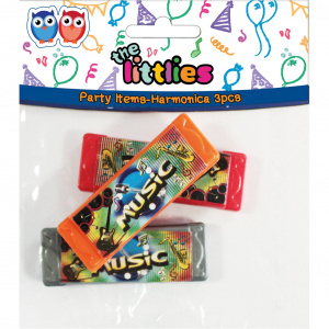 The Littlies mondharmonica The Littlies multicolor 3 stuks