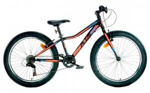 Aurelia Mountainbike 24 Zoll Junior 6G Felgenbremse Schwarz/Orange