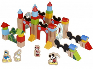 Disney blocksatz Mickey Mouse junior Holz 60-teilig