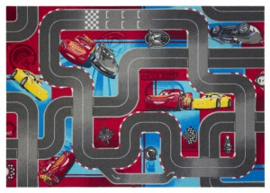 Disney Cars 3 speelkleed stratenplan 95 x 133 cm