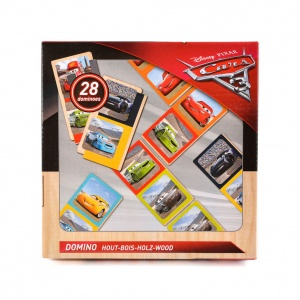 Disney Cars Domino hout 28 stenen
