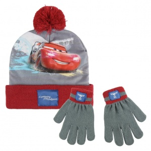 Disney Cars winterset 2-delig junior rood/grijs