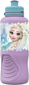 Disney Frozen Floral drinkfles 400 ml roze/lichtblauw