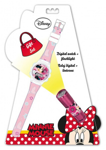 Disney horloge en zaklamp Minnie Mouse junior 2-delig
