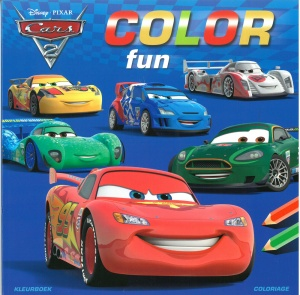 Disney kleurboek Color Fun Cars 2 22 cm
