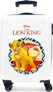 Disney koffer The Lion King junior 37 liter ABS wit/blauw